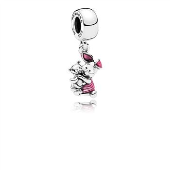 Pandora Disney, Piglet Dangle Charm, Transparent Cerise Enamel 7