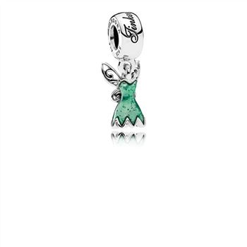 Pandora Disney, Tinker Bell's Dress Dangle Charm, Glittering Gre