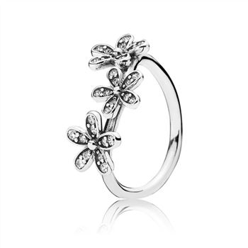 Dazzling Daisies Stackable Ring, Clear CZ 190933CZ