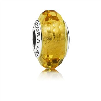 Fascinating Ochre Charm, Murano Glass 791629